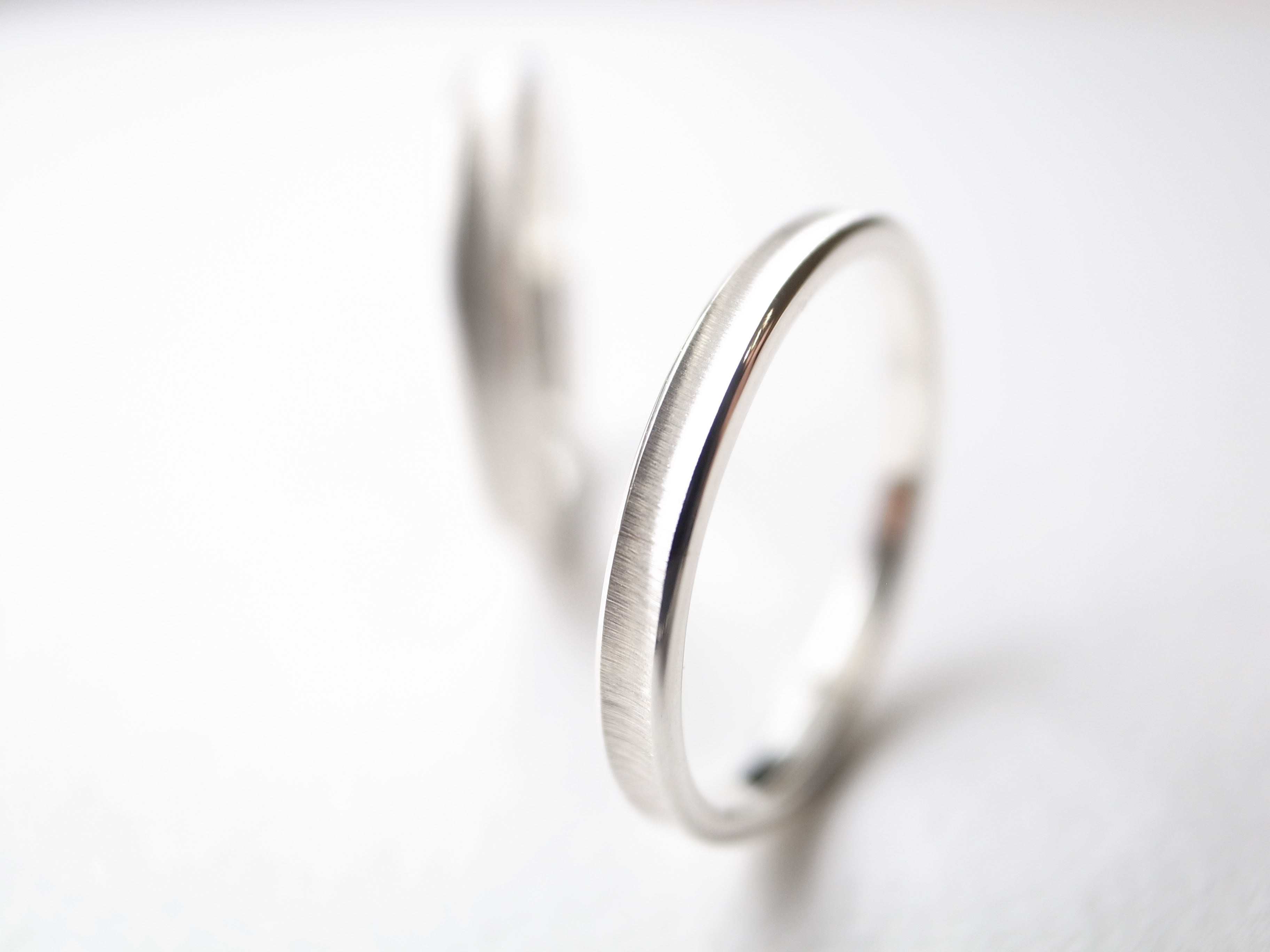 【pairing・stamp】Pt900/gloss ring