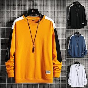 【メンズファッション】韓国系 ファッション カジュアル プルオーバー 配色 ラウンドネック M-4XL パーカー52450156