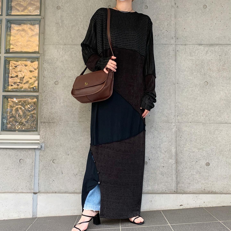 80's vintage black dress