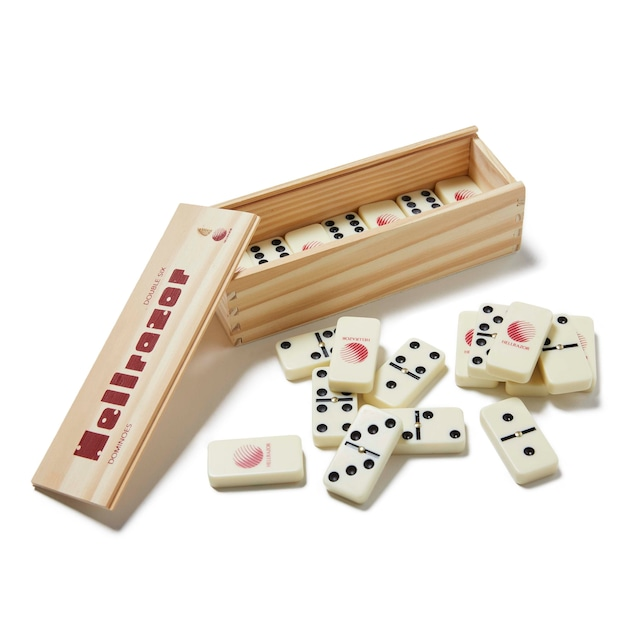 【HELLRAZOR】DOMINOES WITH WOODEN BOX