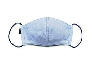吸水速乾COOLMAX使用 日本製 新作ストライプマスク ブルー