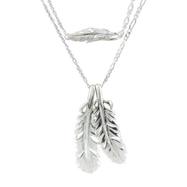 ダブルフェザーペンダント ACKBP0002 Double feather pendant