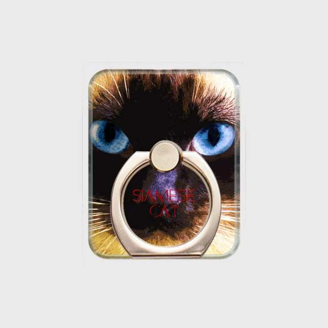 シャム猫 おしゃれな猫スマホリング【IMPACT -color- 】