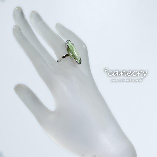 グリーンカイヤナイトのリング