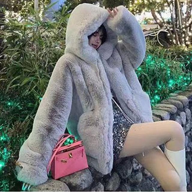 【アウター】気質よいファッションカシミヤジッパーフード付きコート36348318