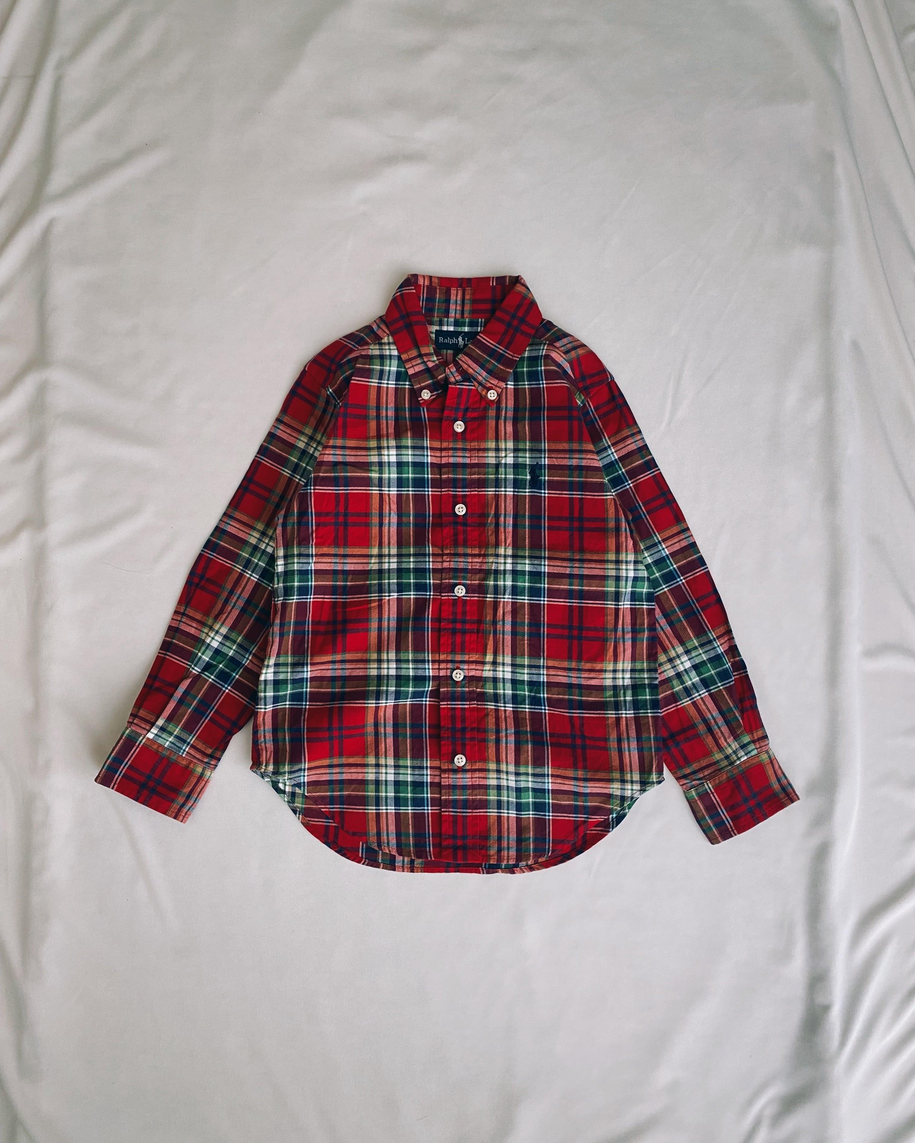 (KD189)110cm Ralph Lauren checked shirt