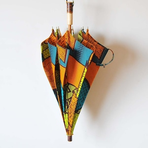 Bon Bon Store アフリカンバティック長傘(桜 003)