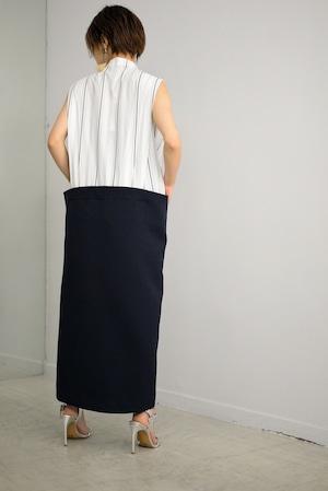 STAIR / docking shirt dress (white)
