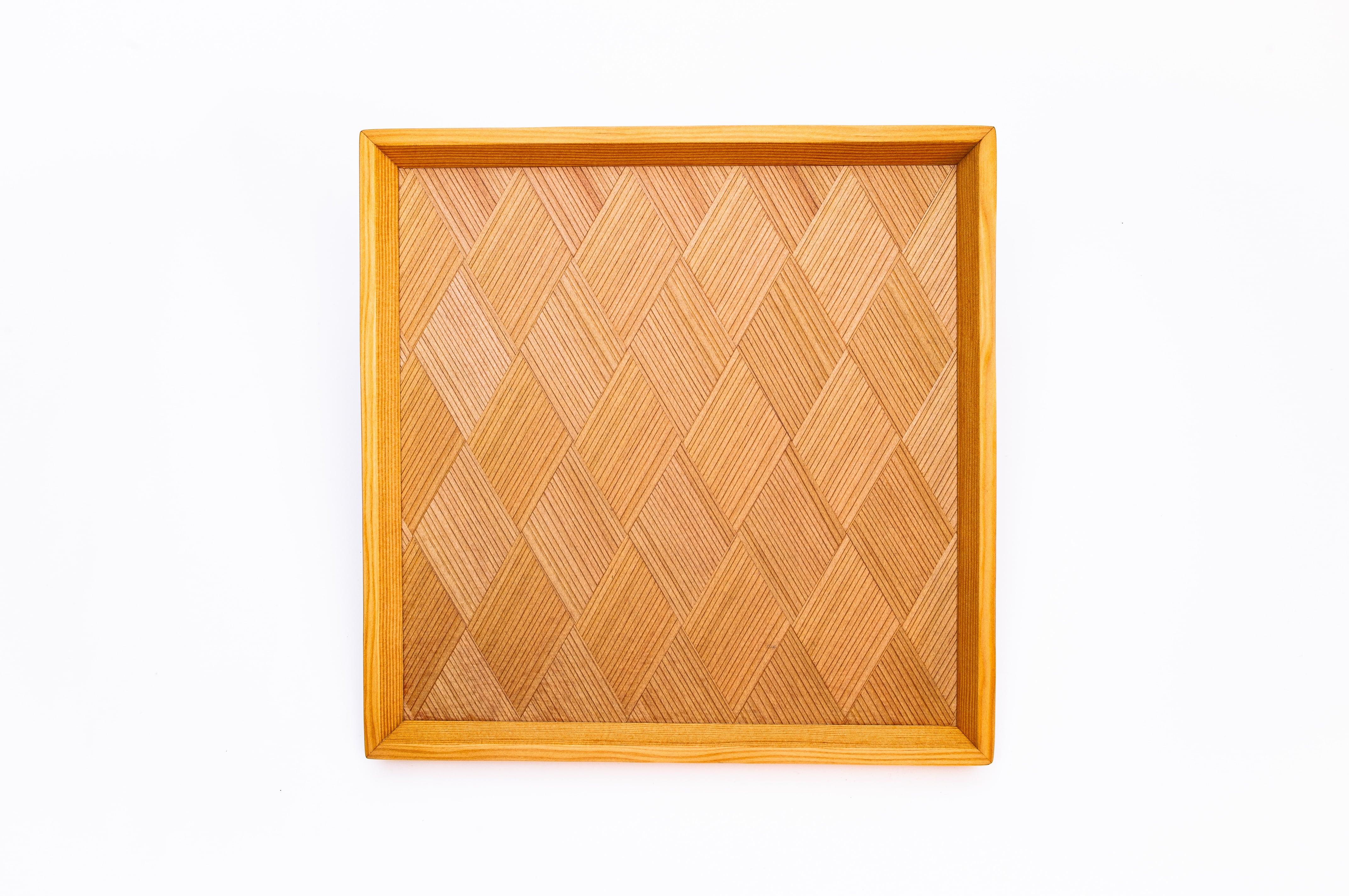杉菱形模様 正方形のトレー 0324