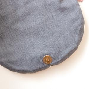 ドット刺繍のベビーリュック(ベージュデニム)