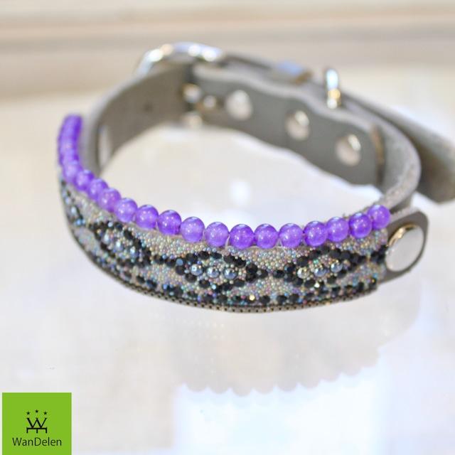 """ WanDelen"" Dog Necklace (diamond gray)"