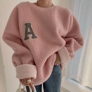 【トップス】大人可愛い!レディース 韓国ファッション プルオーバー 長袖 アルファベット 厚手 長袖 パーカー52900405