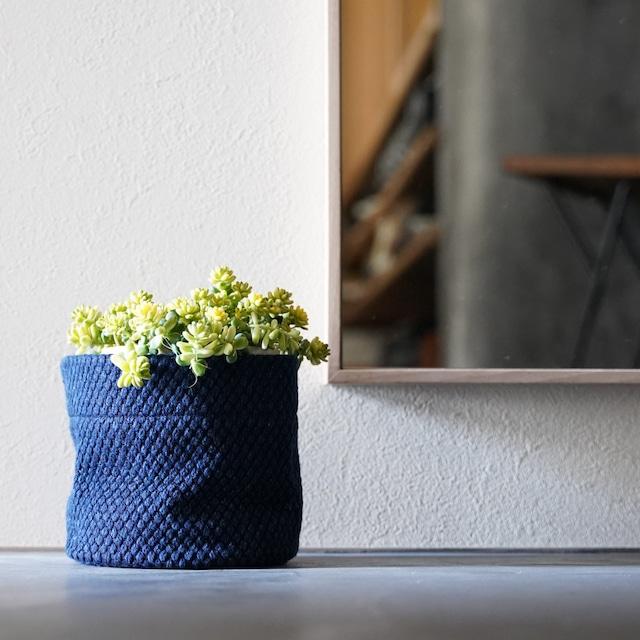 うしじま縫製 | 武州正藍染 鉢カバー【Sサイズ】 二重刺子