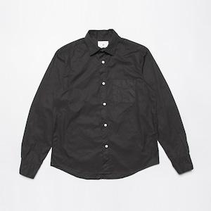 <OSOCU> Garberdine shirt black dye 播州織ギャバジン×名古屋黒紋付染 日本の黒染めシャツ 黒染め