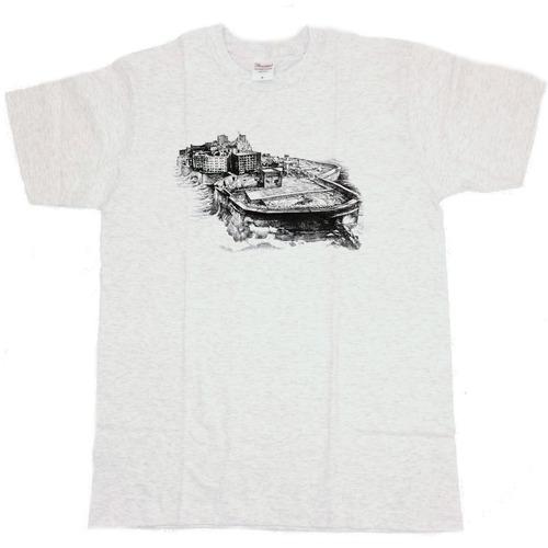 軍艦島ドローイングTシャツ(白)
