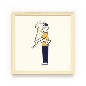 松本セイジ Silk Screen (シルクスクリーン) 抱っこ犬