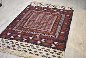 193×119 #1200-0788 細かい柄が美しいアフガンメイドモダンラグ