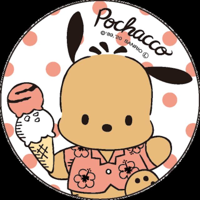 ポチャッコ cafe 限定コラボ缶バッヂ(アイスクリーム)