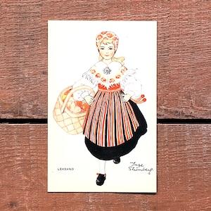 民族衣装カード「LEKSAND(NATIONAL BILDER - 01)」《201213-01》