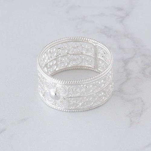 ウォールフラワー リング / 銀線細工(指輪)