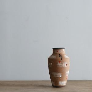 #06-07  Fat Lava Vintage flower vase