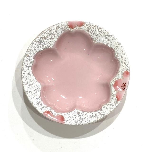 虹彩桜  桜型小皿