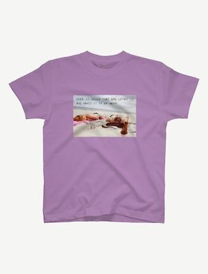 【悩み無用の開放ビーチ】Tシャツ(ラベンダー)