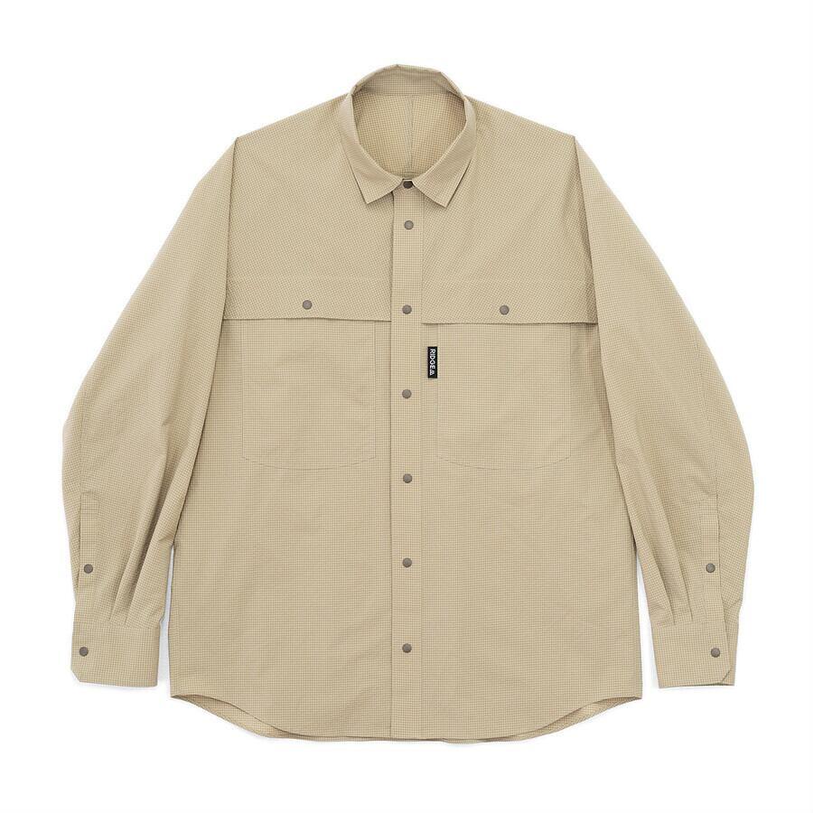 RIDGE MOUNTAIN GEAR Big Pocket Long Sleeve Shirt サンドチェック