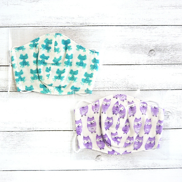 【Ranunculus】立体布マスク(動物)・キッズ~レディースサイズ/マスク