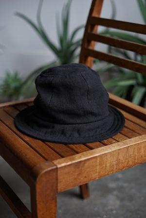 JAN JAN VAN ESSCHE - HAT#6 (BLACK BRUSHED LINEN CLOTH)