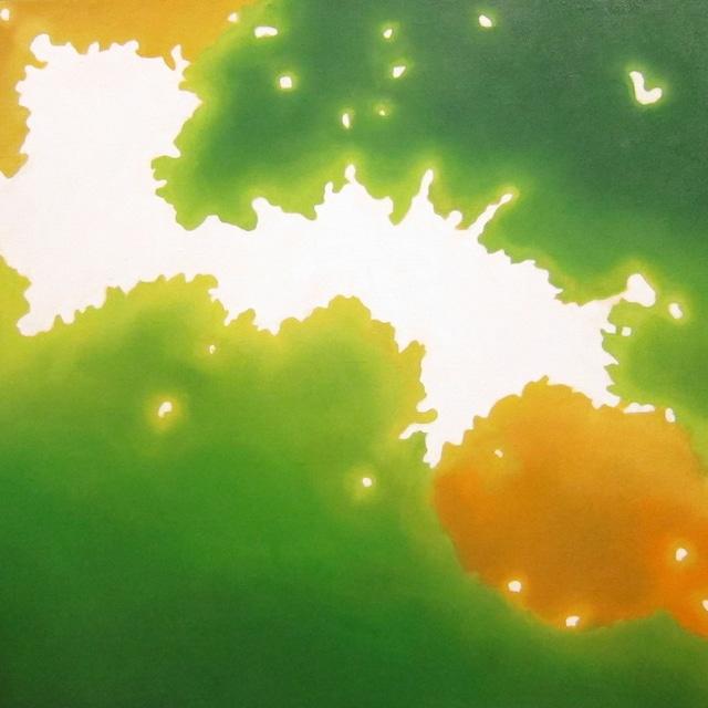 絵画 絵 ピクチャー 縁起画 モダン シェアハウス アートパネル アート art 14cm×14cm 一人暮らし 送料無料 インテリア 雑貨 壁掛け 置物 おしゃれ こもれび 木漏れ日 自然 風景 ロココロ 画家 : 馬見塚喜康 作品 : こもれび-Ⅳ