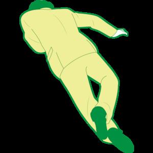 うつ伏せで倒れている男性①