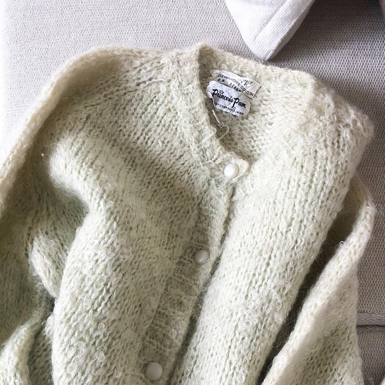 """USED """" loose spring knit cardigan / ルーズスプリングニットカーディガン """""""