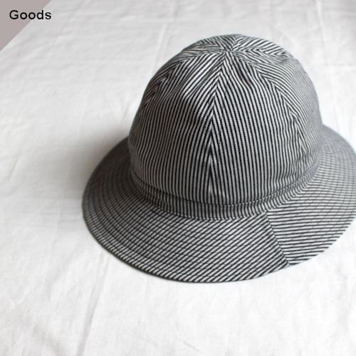 Au vrai chic Britain  Dome Hat (ヒッコリーストライプ)