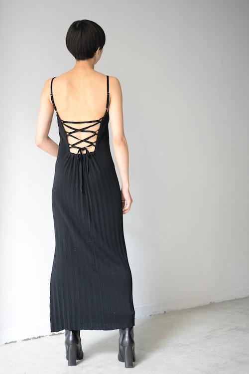 ROOM211 / Pleats knit Dress (black)
