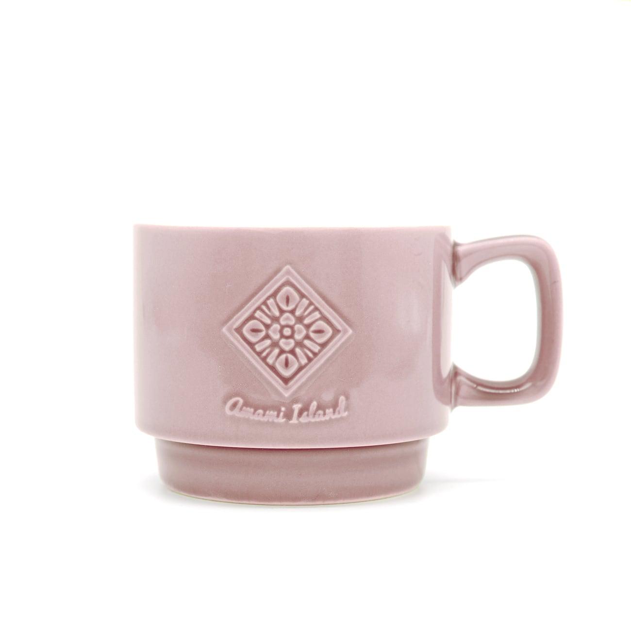 オリジナルマグカップ   ラベンダー   紬柄