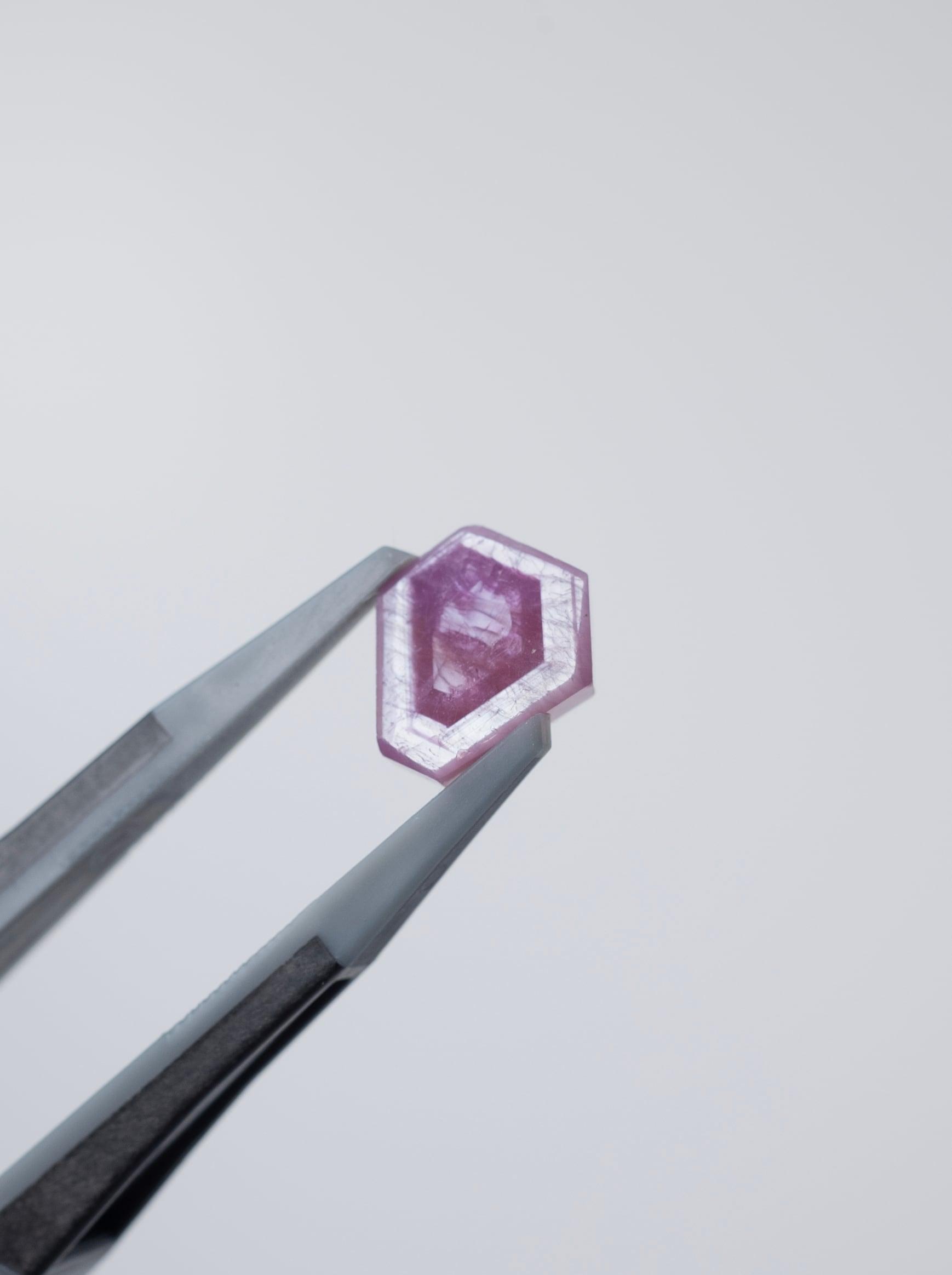 Hexagon Pink Sapphire -004