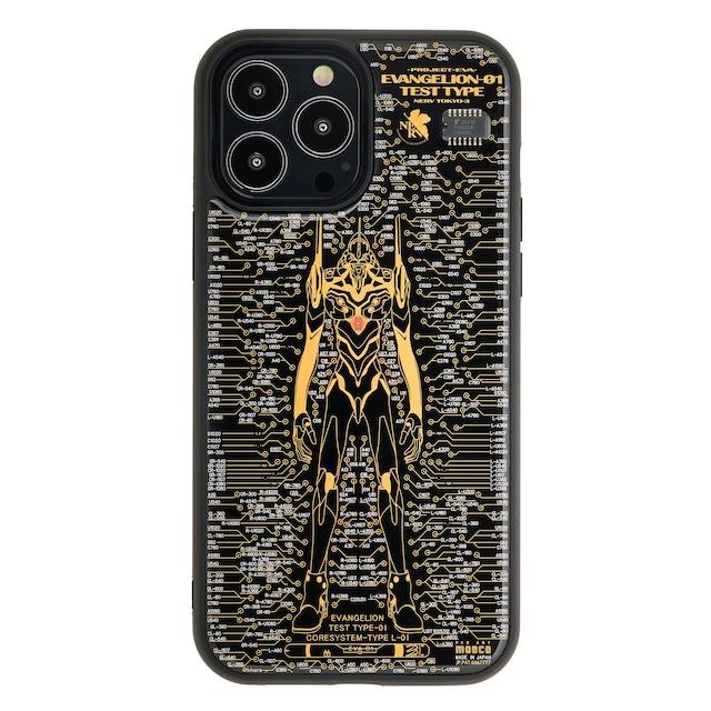 FLASH EVA01 基板アート iPhone 13Pro Maxケース 黒【東京回路線図A5クリアファイルをプレゼント】