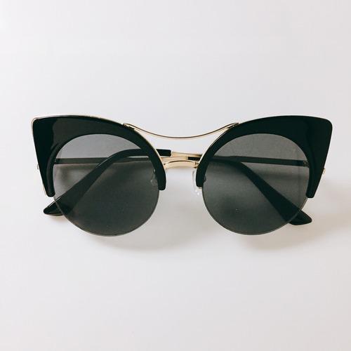 Eyewear♡キャットアイ02 ブラック