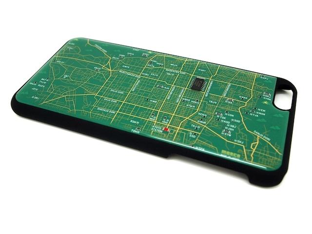 京都回路地図 iPhone6 Plusケース 緑【LEDは光りません】【東京回路線図A5クリアファイルをプレゼント】