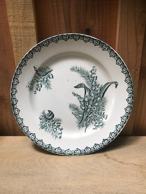 1900年代 フランスアンティーク すずらん柄 プレート 皿 B