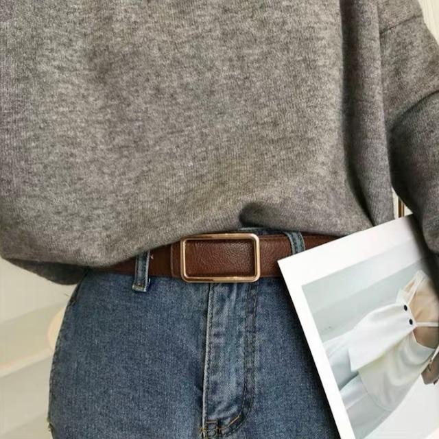 simple square buckle belt 2c's