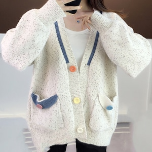 【アウター】売り切れ必至!5色展開シンプル 配色合わせやすい 長袖 カーディガン52990399