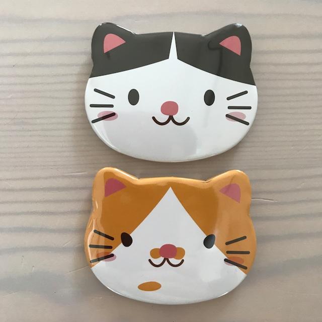 【14周年セール】ニャジロウニャゴロウ猫形缶バッジセット