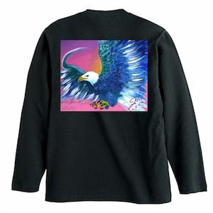 Blue Eagle 長袖Tシャツ:ユッコ・ミラー絵画シリーズ(ブラック)