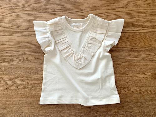 フリルスリーブのTシャツ・白 80cm
