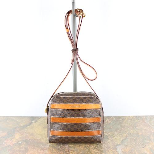 .OLD CELINE LOGO LINE MACADAM PATTERNED SHOULDER BAG MADE IN ITALY/オールドセリーヌロゴラインマカダム柄ショルダーバッグ2000000052595