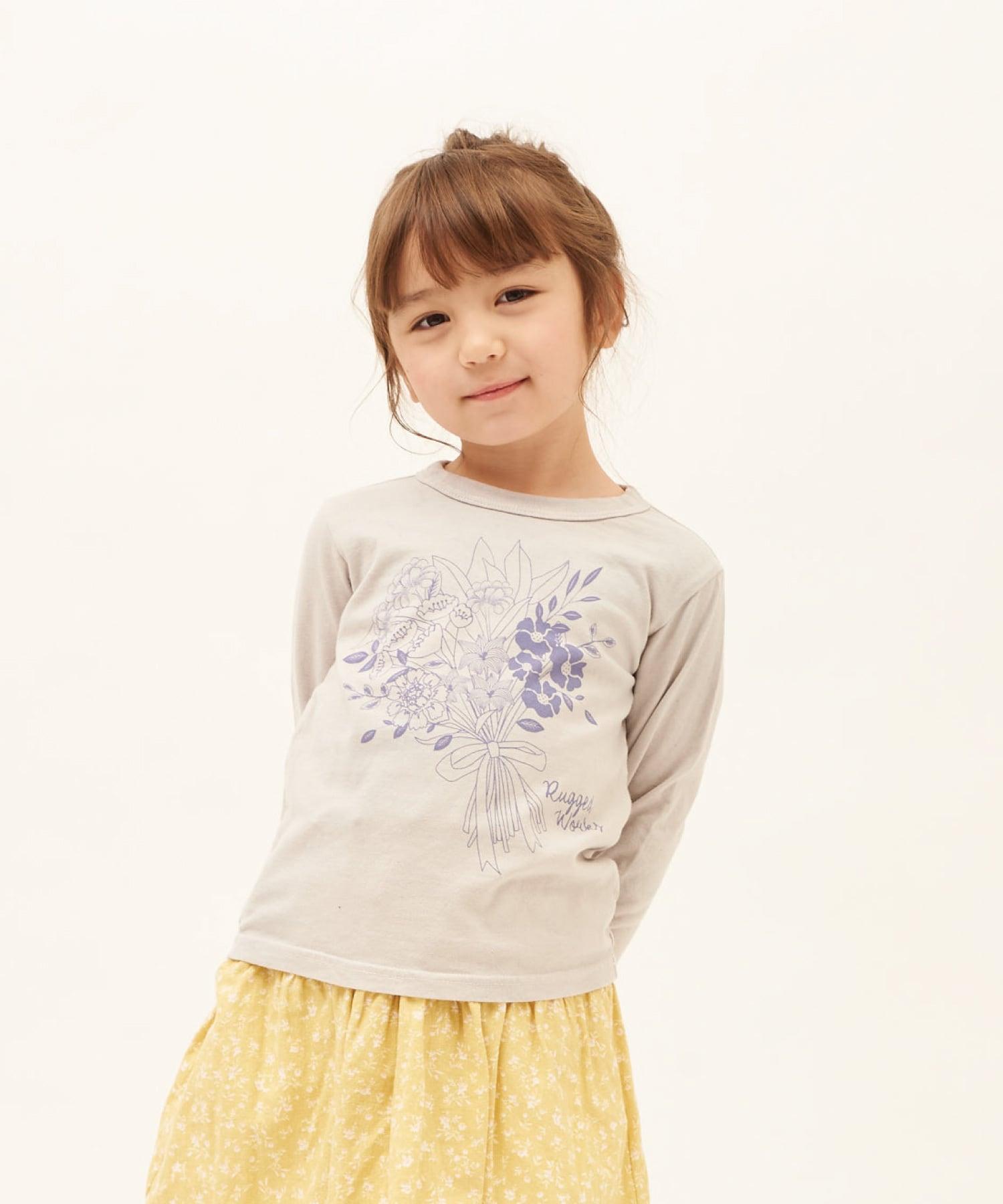 ブーケプリントロングTシャツ(日本製)