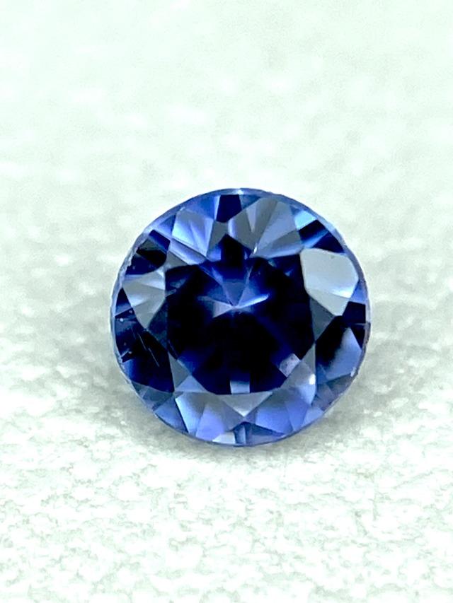 濃色ブルー&煌めき美麗☆ベニトアイト 0.07ct