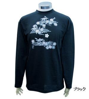 PE-703M秋冬メンズロングスリーブTシャツ(ブラック)